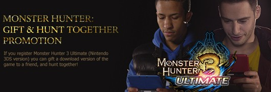 Monster Hunter 3 Ultimate Gift and Hunt Promo