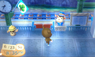 Monkey at Train Station in Animal Crossing: New Leaf