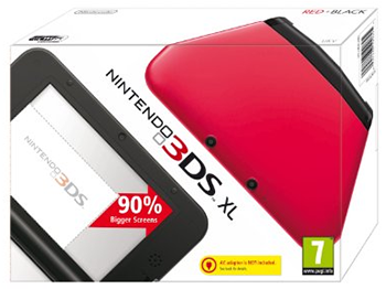Red + Black Nintendo 3DS XL