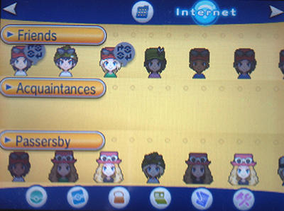 Player Search System in Pokemon X and Y