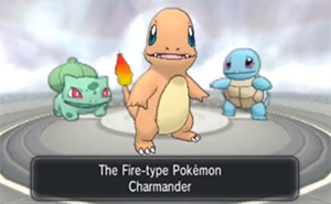 Pokemon X/Y - Bulbasaur, Charmander, and Squirtle