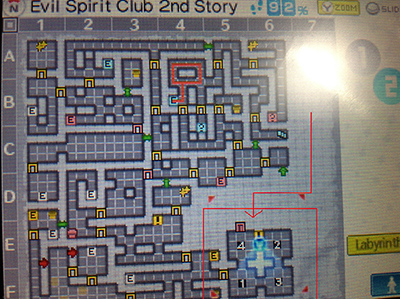 Order to press on the switches to open the locked door in the Evil Spirit Club (2nd Story) of Persona Q