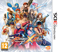 Project X Zone 3DS Game Box Cover Art