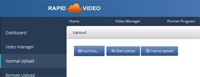 Using RapidVideo