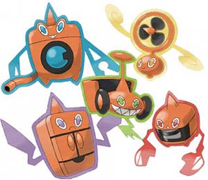 Photo of the different forms of Rotom