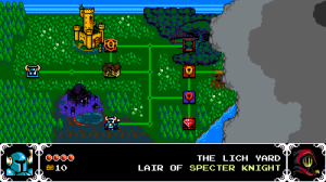 Shovel Knight Screenshot of the World Map