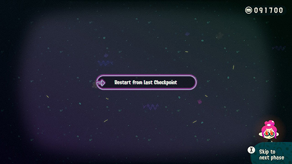 Restart from the last checkpoint
