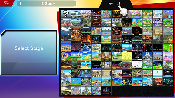 Map selection in Super Smash Bros. Ultimate