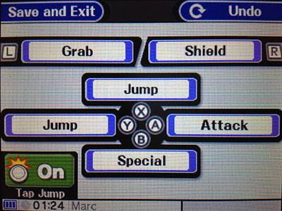 Changing controls in Super Smash Bros. for 3DS