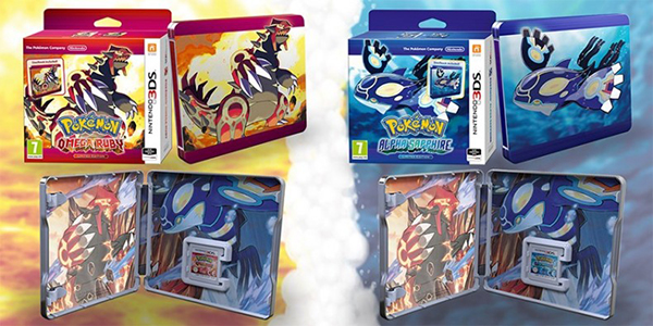 Pokemon Omega Ruby and Alpha Sapphire Steelbook Editions