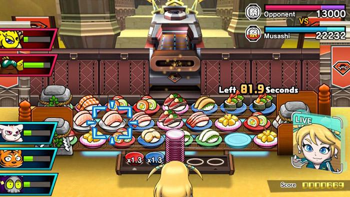 Battle against Gunner in Sushi Striker: The Way of Sushido