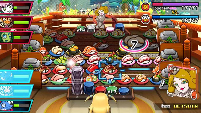 An average sushi battle in Sushi Striker: The Way of Sushido