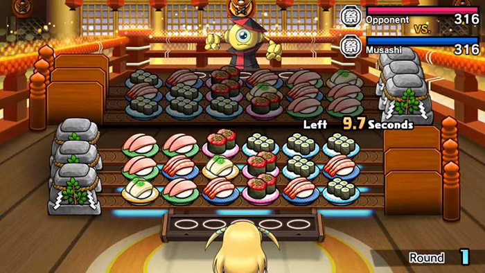 Puzzle battle in Sushi Striker: The Way of Sushido