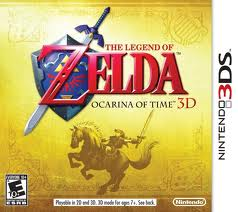 The Legend of Zelda: Ocarina of Time 3D Game Box Cover Art