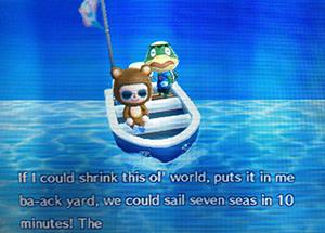 Kapp'n singing a song - Animal Crossing: New Leaf