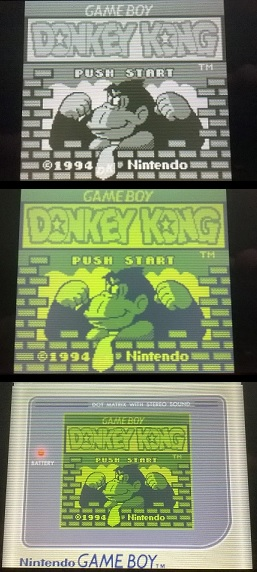 This is a screen comparison  with the Game Boy Virtual Console.