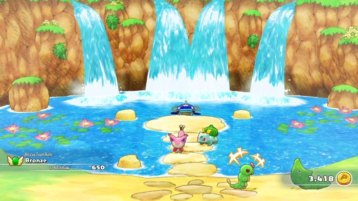 Whiscash Fountain Scenery in Pokemon Mystery Dungeon: Rescue Team DX