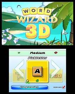 Word Wizard 3D Start Screen - 3DS