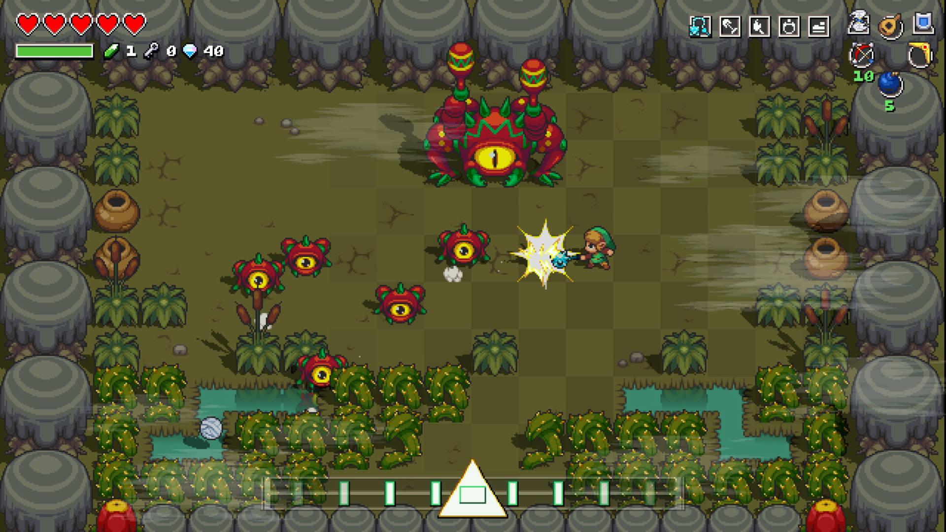 Battle against Gohmaracas in Cadence of Hyrule